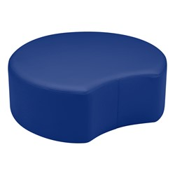 "Shapes Vinyl Soft Seating - Crescent (12"" H) - Blue"