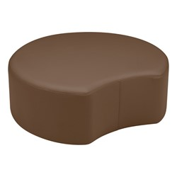 "Shapes Vinyl Soft Seating - Crescent (12"" H) - Chocolate"