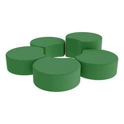 Shapes Vinyl Soft Seating - Crescent Reading Center - Green