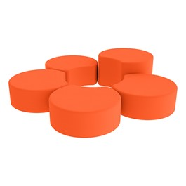 Shapes Vinyl Soft Seating - Crescent Reading Center - Orange