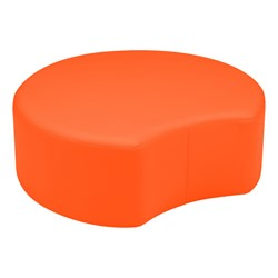 "Shapes Vinyl Soft Seating - Crescent (12"" H) - Orange"