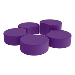 Shapes Vinyl Soft Seating - Crescent Reading Center - Purple