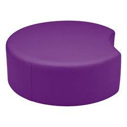 "Shapes Vinyl Soft Seating - Crescent (12"" H) - Purple"