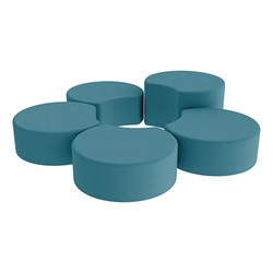 Shapes Vinyl Soft Seating - Crescent Reading Center - Teal