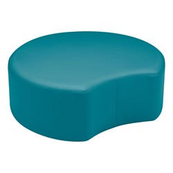 "Shapes Vinyl Soft Seating - Crescent (12"" H) - Teal"