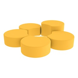 Shapes Vinyl Soft Seating - Crescent Reading Center - Yellow
