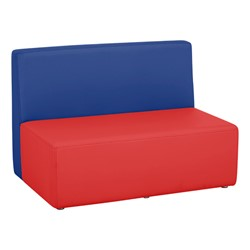 """Shapes Vinyl Structured Soft Seating - Large Huddle 12"""" H (Primary Colors) - Rectangle Seat"""