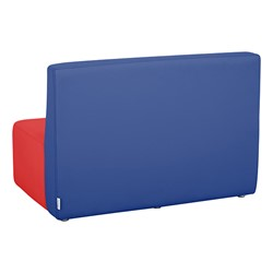 """Shapes Vinyl Structured Soft Seating - Large Huddle 12"""" H (Primary Colors) - Rectangle Seat - Back"""