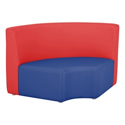 """Shapes Vinyl Structured Soft Seating - Large Huddle 12"""" H (Primary Colors) - Quarter Round Seat"""