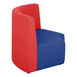 """Shapes Modular School Furniture - 12"""" H Quarter Round - Primary Colors - Side"""