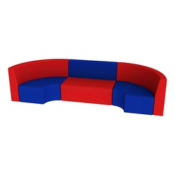 """Shapes Vinyl Structured Soft Seating - Single U-Shape 12"""" H - Primary Colors"""