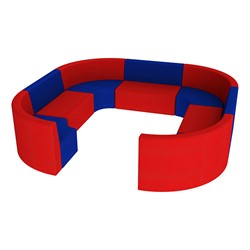"""Shapes Vinyl Structured Soft Seating - Large Huddle 12"""" H (Primary Colors)"""