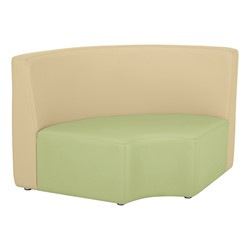 "Shapes Vinyl Structured Soft Seating - Double U-Shape 12"" H (Earth Tone Colors) - Quarter Round Seat"