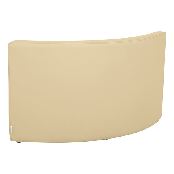 "Shapes Vinyl Structured Soft Seating - Large U-Shape 12"" H (Earth Tone Colors) - Quarter Round Seat - Back"