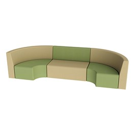 "Shapes Vinyl Structured Soft Seating - Single U-Shape 12"" H (Earth Tone Colors)"