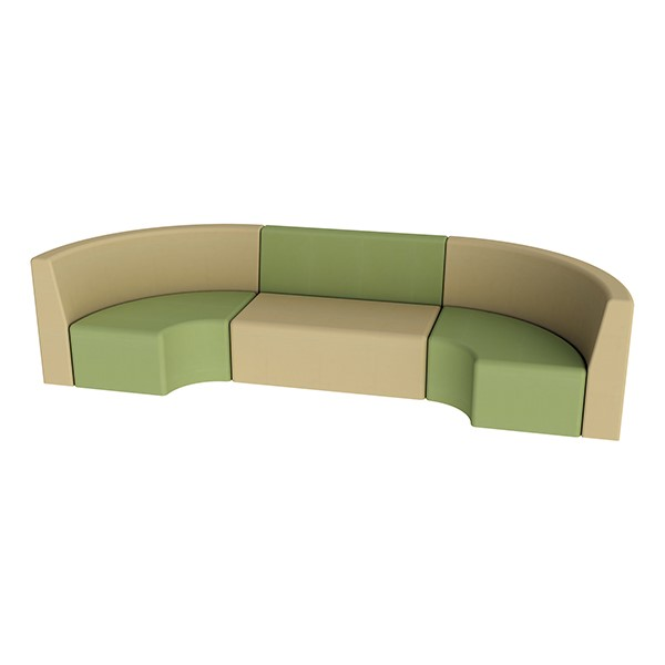 """Shapes Vinyl Structured Soft Seating - Single U-Shape 12"""" H (Earth Tone Colors)"""
