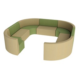 "Shapes Vinyl Structured Soft Seating - Large Huddle 12"" H - Earth Tone Colors"