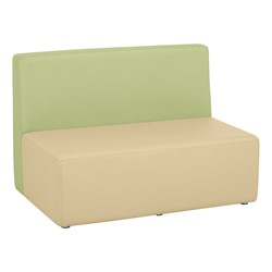 "Shapes Vinyl Structured Soft Seating - Double U-Shape 12"" H (Earth Tone Colors) - Rectangle Seat"