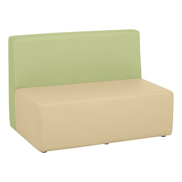 "Shapes Vinyl Structured Soft Seating - Large U-Shape 12"" H (Earth Tone Colors) - Rectangle Seat"