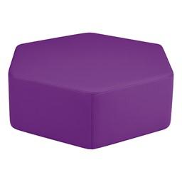 Shapes Vinyl Soft Seating - Hexagon - Purple