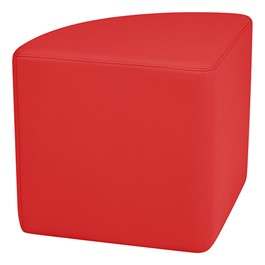 """Shapes Vinyl Soft Seating - Pie (18\"""" H) - Red"""