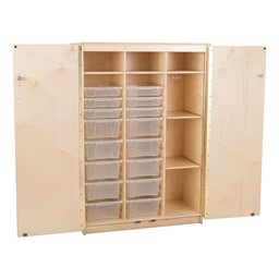 Stationary Tall Cabinet - Open