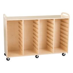Four-Section Wooden Mobile Storage Unit