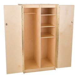 Teacher's Wooden Cabinet w/ Adjustable Shelves - Open