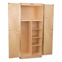 Teacher's Wooden Wardrobe Unit w/ Three Adjustable Shelves