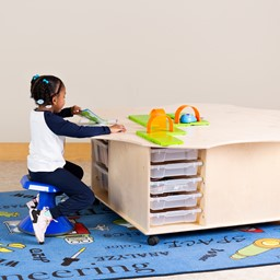 Preschool Table with Storage - STEM Bin Flower