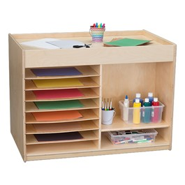 Double-Sided Multi-Use Mobile Art Supply Center