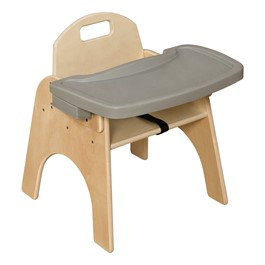 "Wooden Children\'s Chair w/ Adjustable Tray (11"" Seat Height)"