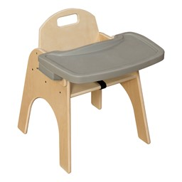 "Wooden Children's Chair w/ Adjustable Tray (13"" Seat Height)"