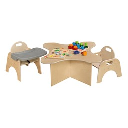 Wooden Children's Chairs w/ Adjustable Trays