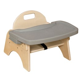 """Wooden Children\'s Chair w/ Adjustable Tray (5\"""" Seat Height)"""