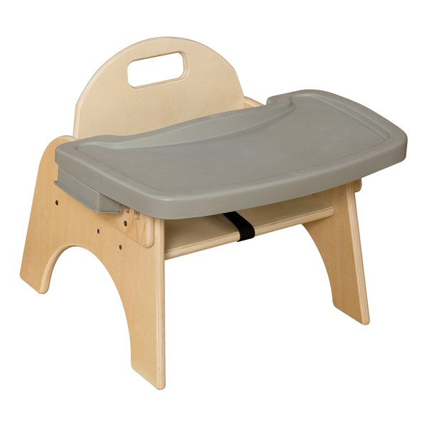 """Wooden Children's Chair w/ Adjustable Tray (7"""" Seat Height)"""