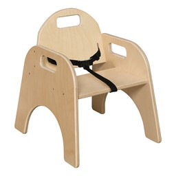 Wooden Children's Chair w/ Belt - Pack of 2
