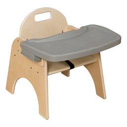 """Wooden Children's Chair w/ Adjustable Tray (9"""" Seat Height)"""