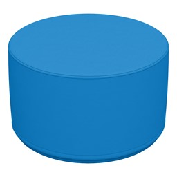 """Foam Soft Seating - French Blue Cylinder (12"""" H)"""
