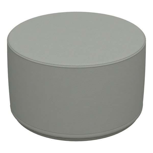 """Foam Soft Seating - Gray Cylinder (12"""" H)"""