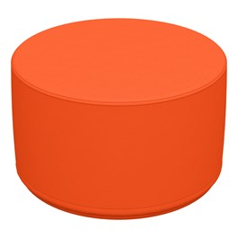 "Foam Soft Seating - Orange Cylinder (12"" H)"