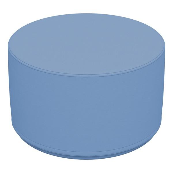 """Foam Soft Seating - Powder Blue Cylinder (12"""" H)"""