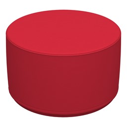 Foam Soft Seating Circle Ottoman - Red