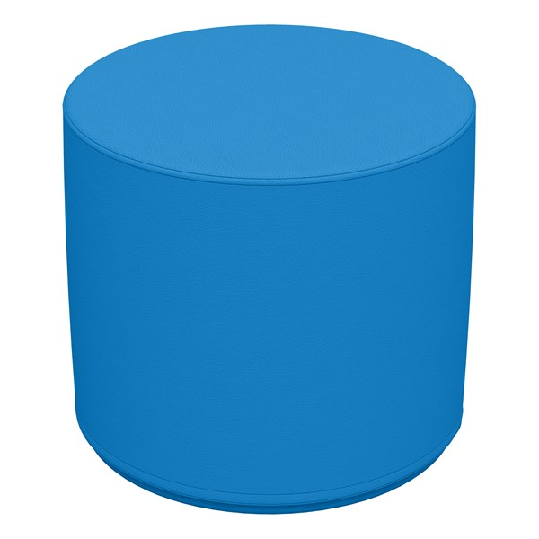 """Foam Soft Seating - French Blue Cylinder (16"""" H)"""