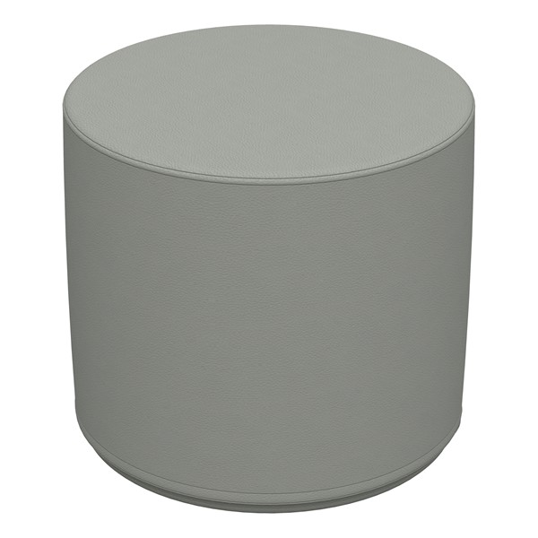 """Foam Soft Seating - Gray Cylinder (16"""" H)"""