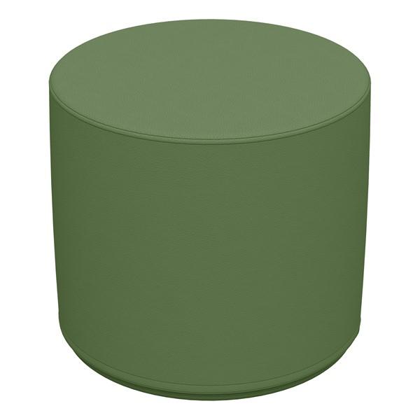 "Foam Soft Seating - Hunter Green Cylinder (16"" H)"