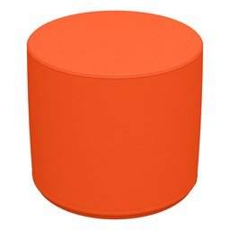 "Foam Soft Seating Circle Ottoman - Orange (16"" H)"