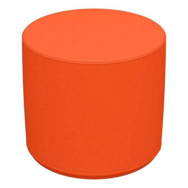 "Foam Soft Seating - Orange Cylinder (16"" H)"