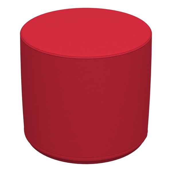 """Foam Soft Seating - Red Cylinder (16"""" H)"""