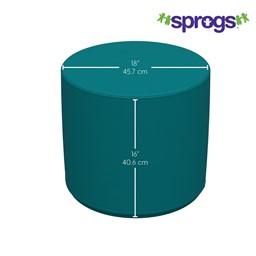 "Foam Soft Seating - Cylinder (16"" H) - Dimensions"